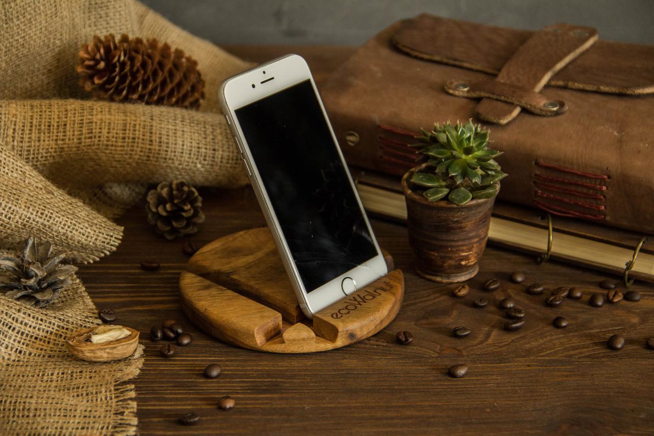 Настольный органайзер из дерева для телефона, планшета