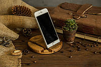 Настольный органайзер из дерева для телефона, планшета, фото 1