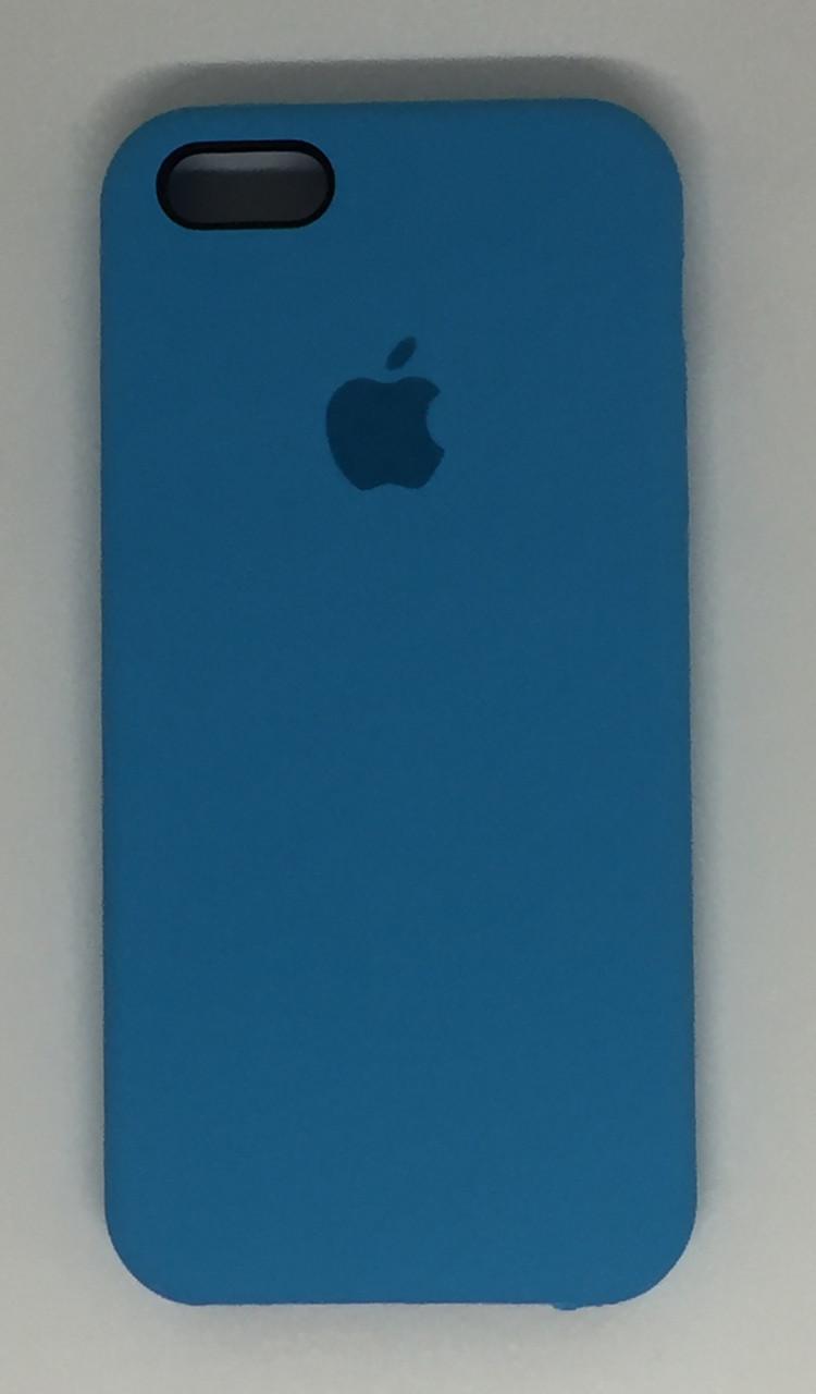 """Чехол Silicon iPhone 6 Plus - """"Голубой №16"""""""