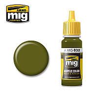 Краска для моделей. Советский зеленый базовый 17 мл. AMMO MIG A.MIG-932
