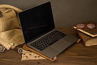 Настольный деревянный органайзер для ноутбука. Охлаждающая подставка на рабочий стол