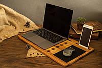 Деревянный настольный органайзер. Подставка охлаждающая под ноутбук