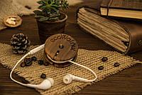 Катушка для наушников из дерева
