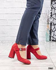 """Туфли в стиле """" Мэри Джейн"""" Натуральная итальянская замша. Размер 36 38"""