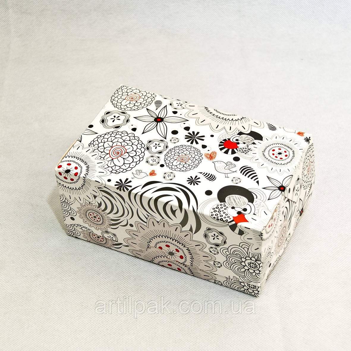 Коробка-контейнер 180*120*80 АБСТРАКЦІЯ ЧОРНО-БІЛА