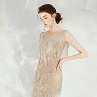 Выпускное Свадебное Вечерние платье ручной работы из бисера.Эксклюзивное роскошное платье.  Весільна сукня