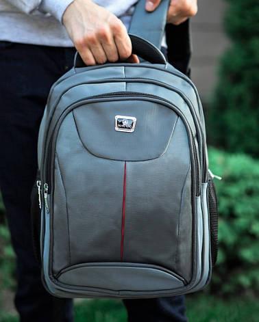Рюкзак стильний та зручний сірий, фото 2