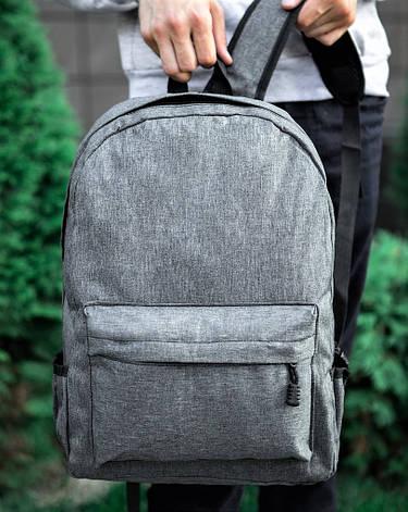 Рюкзак меланж світло-сірий, фото 2