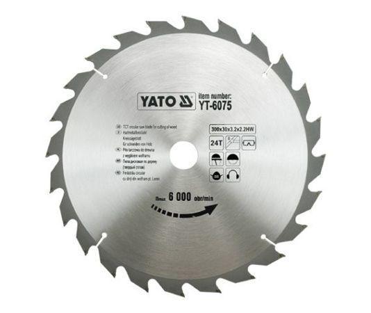 Диск пильный по дереву 300 Х 30 X 3.2 X 2.2 мм 24 зубца YATO YT-6075 (Польша)