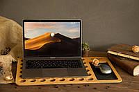 Подставка охлаждающая для ноутбука из дерева