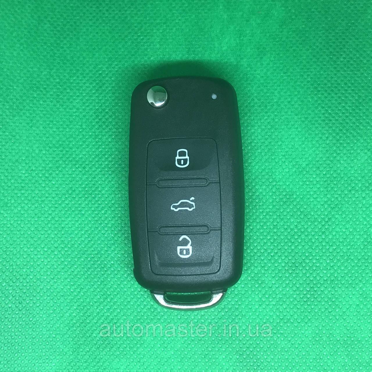Ключ Фольксваген Volkswagen Caddy,Polo,Jetta  3 кнопки   5K0 959 753 AB, 5K0 837 202AD 433MHz, ID48