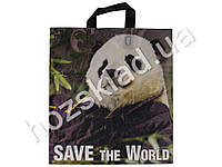 Пакет петля 43x37 Save the world (цена за упаковку 50шт)