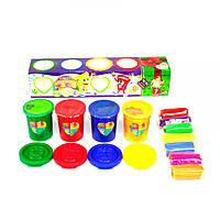 Набор креативного творчества Пальчиковые краски + тесто для лепки PK-03-01U укр (51976)