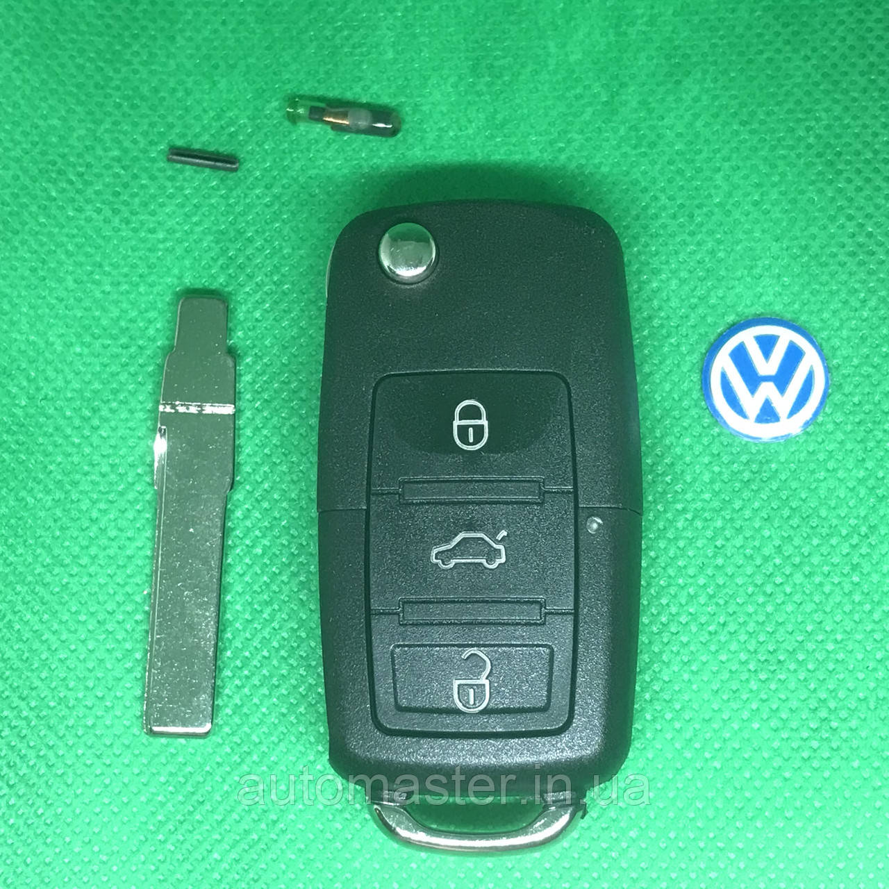 Ключ Фольксваген Volkswagen Passat, Golf,Jetta , 3 кнопки 1K0959753N ,с частотой 433 MHz ID48