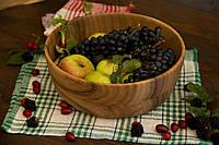 Салатниця з дерева на кухню для сервірування та подавання фруктів, овочів, фото 1