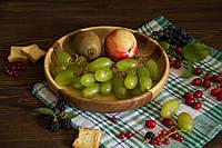 Тарелка из дерева для сервировки и подачи фруктов, овощей, сладостей