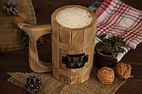 Пивной деревянный персонализированный бокал