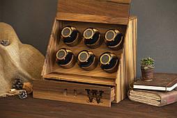 Дерев'яна шкатулка схованку для годинників, прикрас, особистих речей. Чоловічий, жіночий органайзер, подарунок чоловікові, дружині