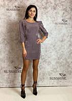 Женское платье из замша-велюр дайвинг  Poliit 8664, фото 1