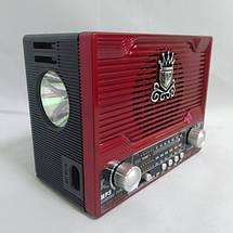 Радиоприемник NS-1556S с солнечной панелью Красный, фото 2