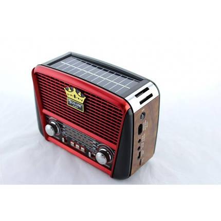 Радиоприёмник Golon RX-455S с солнечной панелью Красный, фото 2
