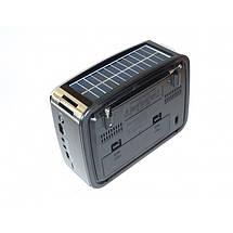 Радиоприёмник Golon RX-456S с солнечной панелью СЕРЫЙ, фото 3