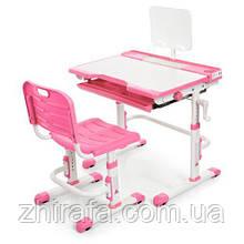 Детская ортопедическая регулируемая парта  Bambi M 3111-8, розовая