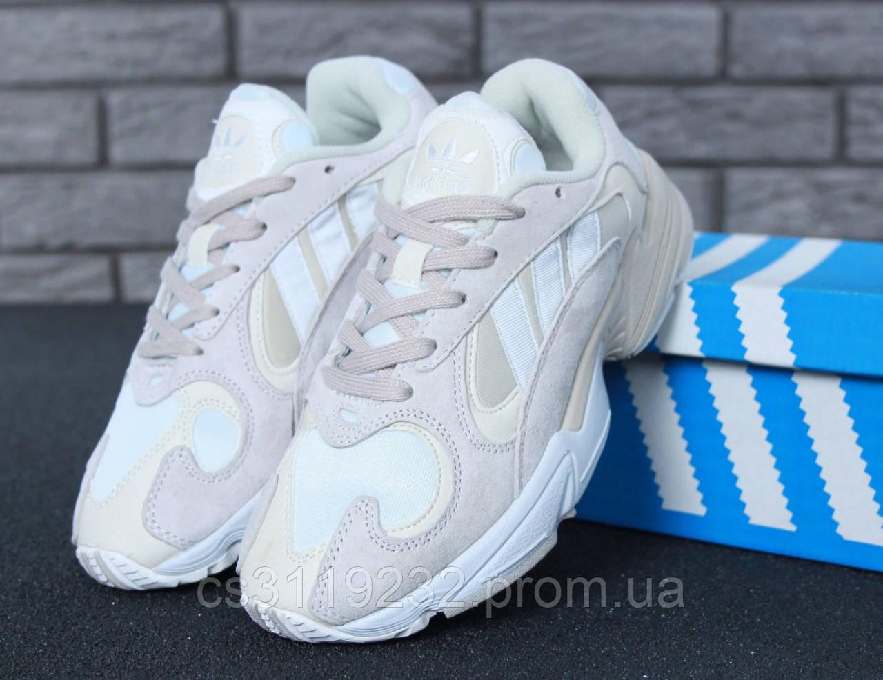 Мужские кроссовки Adidas Yung-1 White Grey (бело-серые)