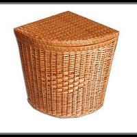 Плетений кошик для білизни кутова з натуральної лози 55х35х35 см, фото 1