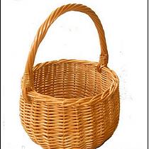 Плетені дитяча кошик з лози