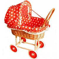 Плетеная коляска для куклы из лозы. Детская игрушечная коляска для куклы.