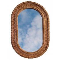 Зеркало овальное плетеное