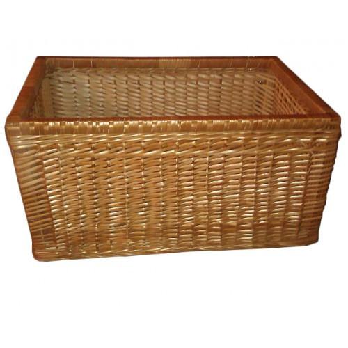 Плетеный ящик емкость для хранения продуктов с высокими бортиками (30х60х40 см)