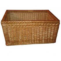 Емкость для хранения продуктов с высокими бортиками. Плетеный ящик (30х60х40 см)