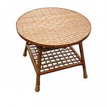 Стол из лозы. Круглый стол для кухни