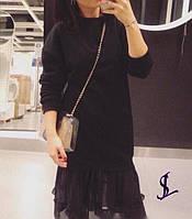 Платье с отделкой шифона  в расцветках  52029, фото 1