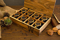 Деревянная шкатулка для мужских женских часов и украшений. Подарок парню мужу девушке жене подруге боссу другу
