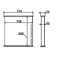 Соты радиатора DAF F95 (87-)