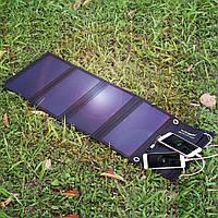 Солнечная панель Floureon 28 Вт 4 секции, складная, Выход 5В 2,4А. 3 USB