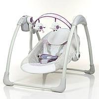 Кресло-качалка 6505 Mastela Deluxe Portable Swing,серо-фиолетовая