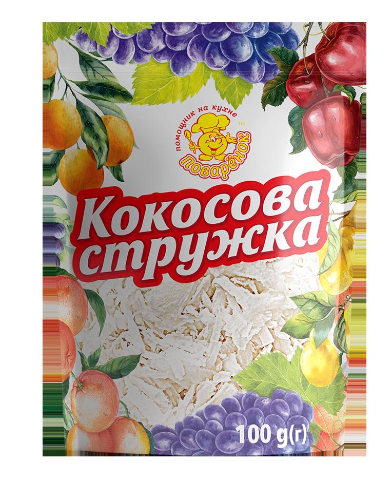 Кокосова стружка біла 100 г.