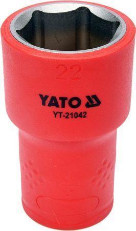 """Головка торцевая шестигранная диэлектрическая 22 мм 1/2"""" YATO YT-21042 (Польша)"""