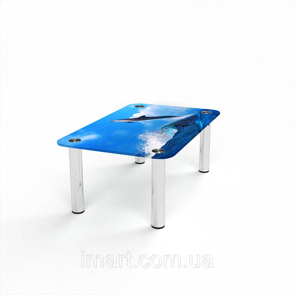 Журнальный стол прямоугольный Dolphin стеклянный