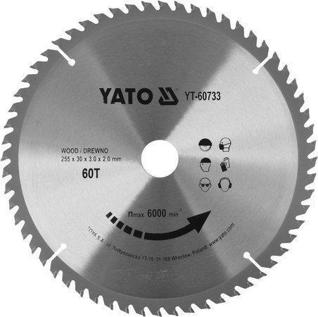 Диск пильный по дереву 255X30X3.0X2.0 мм YATO YT-60733 (Польша)