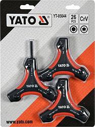 Набор ключей шестигранных 26 шт YATO YT-05644 (Польша)