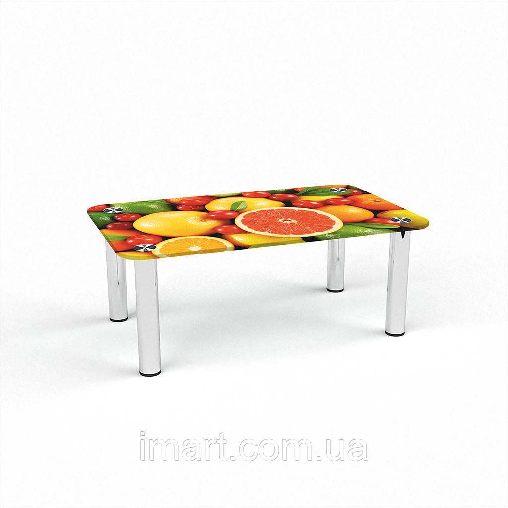 Журнальный стол прямоугольный Fruit стеклянный