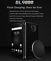 Doogee BL9000 silver / wireless charger