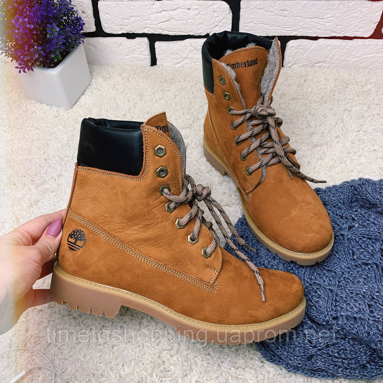 Зимние ботинки  (на меху) женские Timberland  13052 ⏩ [ 39,40 ]