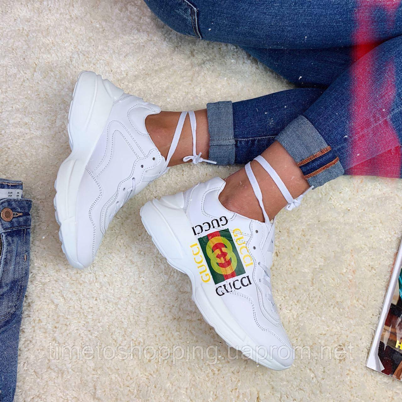 Кроссовки женские Gucci  00011 ⏩ [ 36.39 ]