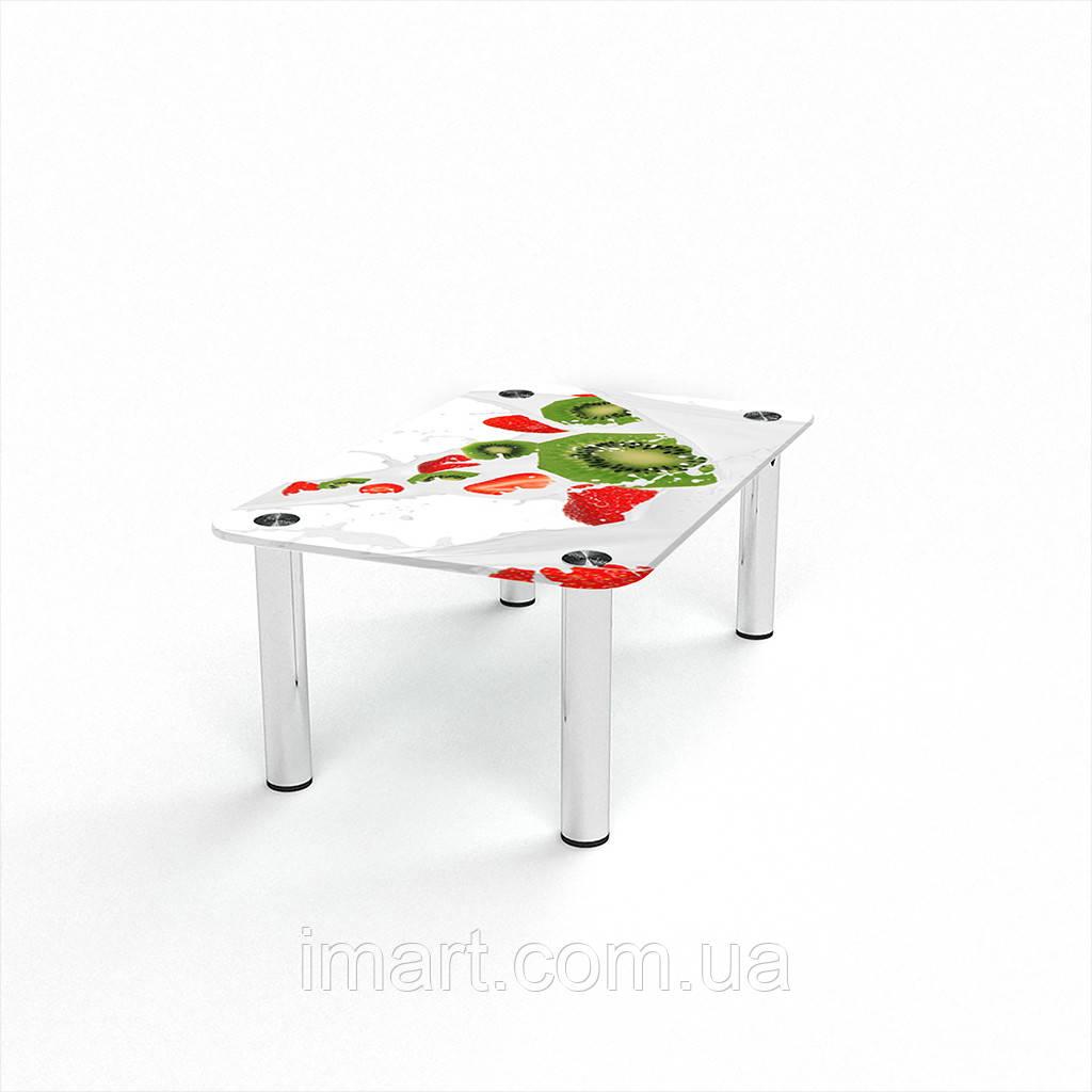 Журнальный стол прямоугольный Fruit&Milk стеклянный